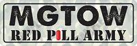 MGTOW Red Pill Army Camo Bumper Sticker