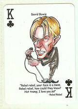 DAVID BOWIE ZIGGY STARDUST REBEL REBEL R&R HALL OF FAME SINGLE SWAP PLAYING CARD