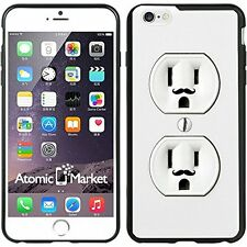 Wall Outlet Duplex With Mustache For Iphone 6 Plus 5.5 Inch Case Cover