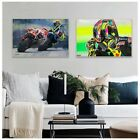 Abstract Motorcycle Racing Picture Posters Watercolor Canvas Paintings Prints