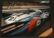 MARTINI RACING PORSCHE 917 LE MANS 1971 ORIGINAL FACTORY SHOWROOM DEALER POSTER