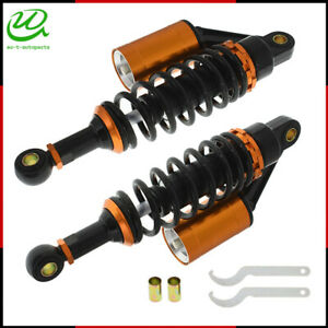 Pair 280mm Motorcycle Rear Shock Absorber Air Suspension  For Yamaha Suzuki