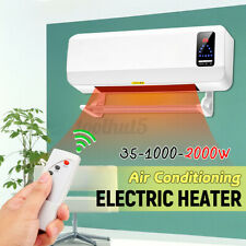 Wall Mounted Heater 220V Timing Space Heating Air Conditioner Waterproof