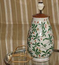 Ancienne Grande Lampe en porcelaine Chine décor papillons style famille verte