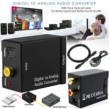 Digital to Analog Audio Converter Optical Coaxial In Headphone Speaker RCA Out