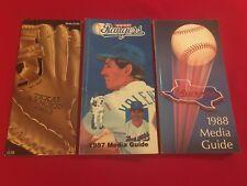 1980-2018 MLB Texas Rangers media guide / You pick 'em / Clark / Ryan / Sierra