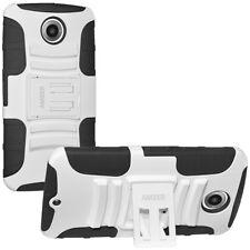Amzer Black/white Hybrid Kickstand Case for Google Motorola Nexus 6 Xt1103 1100