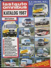 * Lastauto Omnibus Katalog 1987 Nr. 16  AUTO Nutzfahrzeug  RAR Lastwagen LKW  *