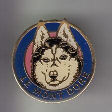 RARE PINS PIN'S .. SPORT HIVER CHIEN DOG HUSKY TRAINEAU POLKA MONT DORE 63  ~CX