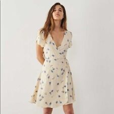 Christy Dawn Anya Dress- Cream And Blue Floral XS/S