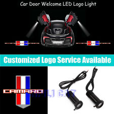 2Pcs 3D CAMARO Logo Car Door LED Light Projector for Camaro RS SS ZL1 Z28 LS LT