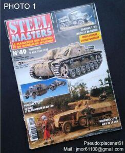 Revue STEEL MASTERS N°49 Février-Mars 2002. Famo et sa remorque. Jadgpanther.