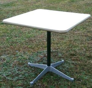 """Vintage Eames for Herman Miller 30"""" Square Table Pedestal Base ET-112 Original"""