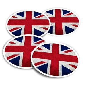 4x Round Stickers 10 cm - Union Jack Flag GB UK England  #2240