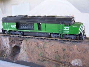EMD F45 BN Burlington Northern salvage repair dismantled kitbash locomotive