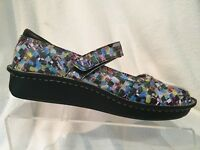 Alegria BEL-568 Mary Jane Shoes Womens 37 US 7-7.5 Multicolor Squares Casual