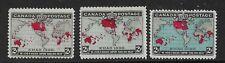 CANADA -1898 - CHRISTMAS ALL 3 OCEAN COLOURS - MM- SG 166/168- CAT £110