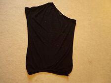 NEU ! edles Top 1-Arm-Shirt mit Perlen besetzt Tunika Longshirt Gr. XS AMISU