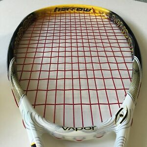 Harrow Vapor Squash Racquet 140g Strung Weight 380mm Balance White Yellow Black