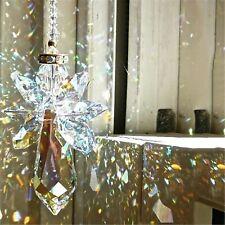 New Angel Chandelier Wind Chimes  00006000 Coating Crystal Prisms Hanging Suncatcher