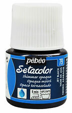 PEBEO SETA COLOR OPAQUE FABRIC PAINTS SHIMMER & PEARL EFFECT COLOR 45 ml