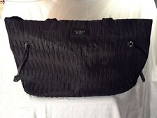 VICTORIAS SECRET LARGE BLACK TRAVEL TOTE BAG PURSE