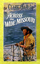 Across the Wide Missouri ~ New VHS Movie ~ 1951 Clark Gable Western Sealed Video