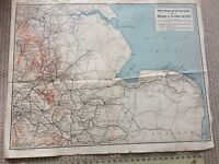 LONDON MIDLAND RAILWAY MAP DOUBLE SIDED WALES MIDLAND & EASTERN C 1940 LMS