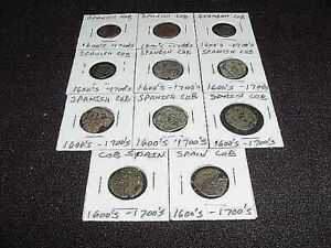 LOWER PRICE! Q11 1600's / 1700's SPANISH COPPER COB COINS #3 CHEAP selectvintage