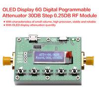 OLED Display 6G Digital programmable attenuator 30DB step 0.25DB RF Module HN