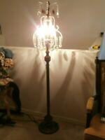 VINTAGE FLOOR PEDESTAL LAMP TEARDROP LARGE BASE 65 INCH TALL