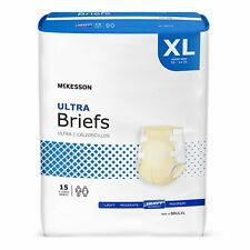 McKesson Ultra Heavy Absorbency Adult Disposable Brief Diapers Xl Tab Closure 60
