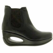 FLY London Ankle Boots Wedge Standard (B) Shoes for Women