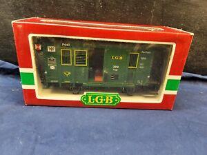 Lehmann LGB Mail Post Briefkasten Train Car G Scale W/Box 3019