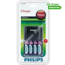 Philips Value AA /AAA NiMH Battery Charger + 4 AA 1300mAh Rechargeable Batteries