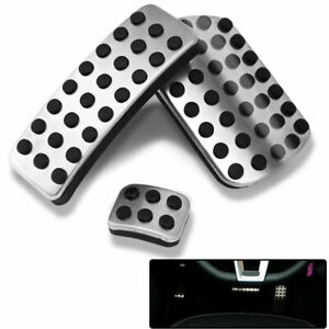Accelerator Brake Park Pedal Cover Stainless Steel For Mercedes-Benz M-Class 2PC