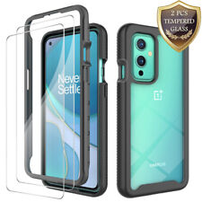 For OnePlus Case Hybrid Bumper Rubber Shockproof Phone Cover+Tempered Glass
