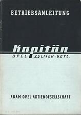 OPEL   KAPITÄN  ´39  Betriebsanleitung  Bedienungsanleitung Handbuch Bordbuch BA