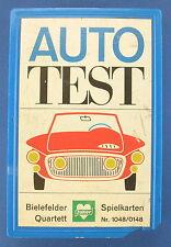 Quartett - AUTO TEST - BIELEFELDER SPIELKARTEN - Nr. 1048 / 0148 - 1963 Joker