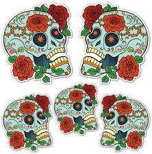 SUGAR SKULL ADESIVI Giorno dei Morti messicano AUTO MOTO chitarra Laptop Teschio D