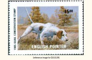 Quail Unlimited 1985 Stamp $5.00 *SALE*