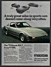 1979 MAZDA RX-7 GS Silver Sports Car Vintage Photo AD