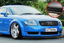 Spoilerschwert Frontspoilerlippe aus ABS für Audi TT 8N mit ABE schwarz glänzend