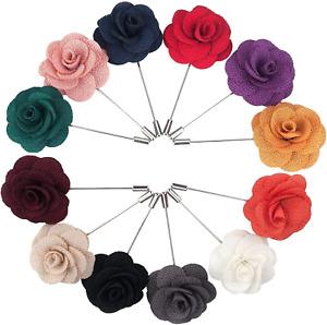 Wedding Party Lapel Pin Set Handmade Boutonniere Suit Flower Men Accessories NEW