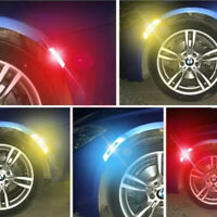 Carbon Fiber Style Car Auto Warning Decal Strips Safety Tape Reflective Stickers