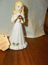 "Enesco Birthday Growing Up Girls 9 Year Old Blonde Hair Doll Figurine 1981 5"" T"