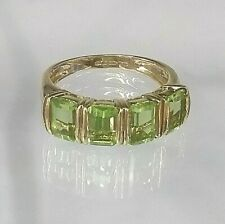 Vintage Peridot Dress Ring 9ct Yellow Gold Pristine Condition Size K