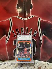Michael Jordan Fleer 1986 Rookie Card 57 BCCG 7 CHICAGO BULLS MJ RC HOLY GRAIL