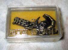 Vintage 70s Popy Daiku Maryu Gaiking 3D Bronze Metal Pin Badge MIB