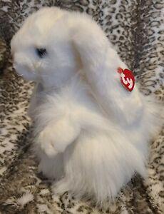 "TY Beanie Classic ""Cashmere"" the Rabbit Bunny 11"" Baby Buddy 2001 White Plush"